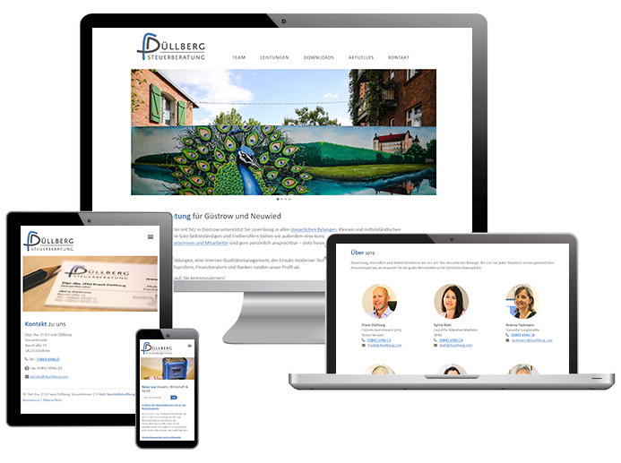 Screenshots der Website von Steuerbüro Düllberg